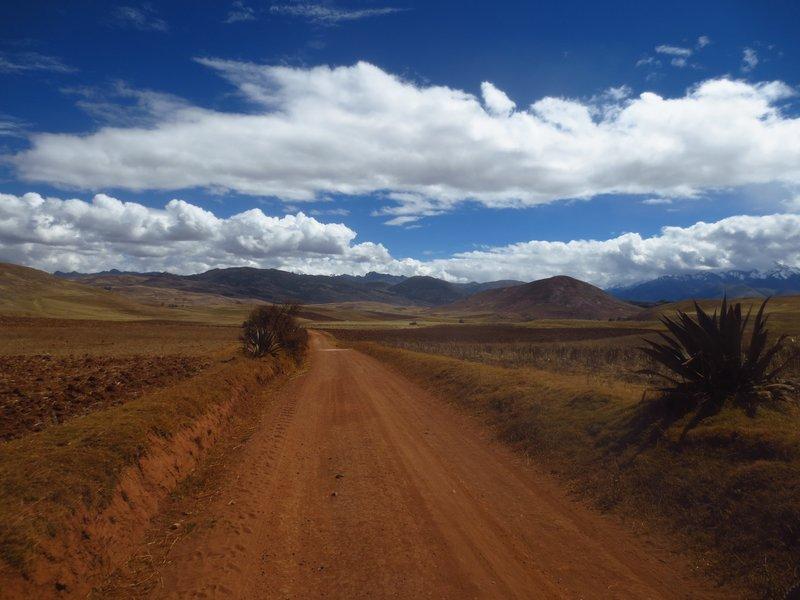 the landscape around cusco