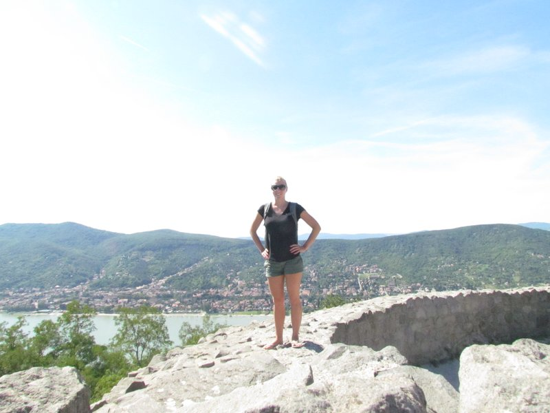 Standing on the Visegrad castle ruins overlooking the danube