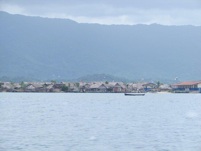 An inhabited Kuna island and where we stayed