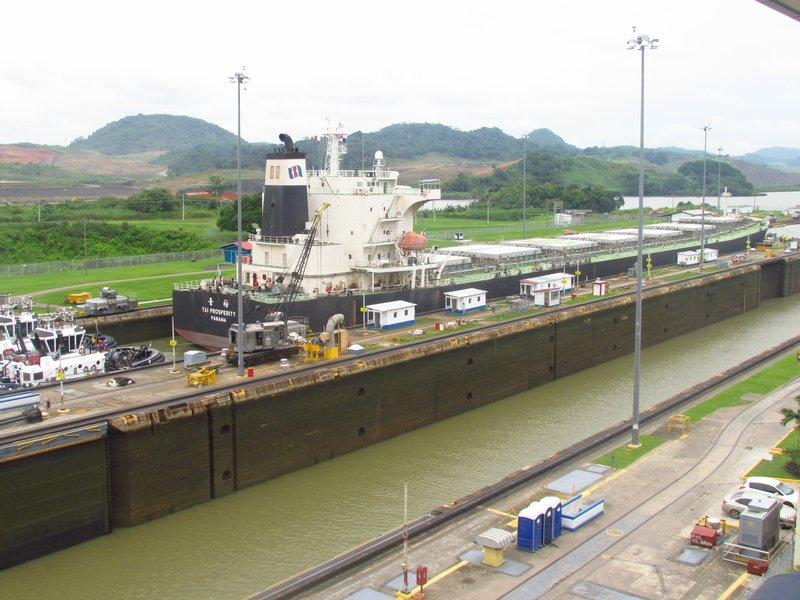 Miraflores Lock at Panama canal