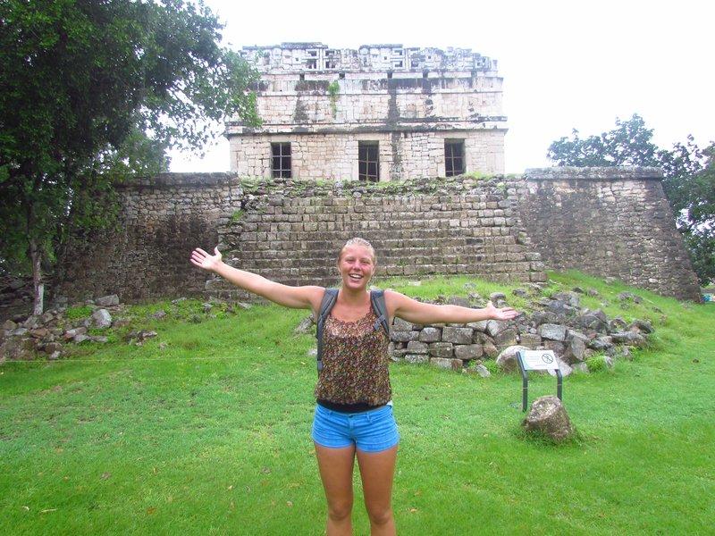 chichen itza in the pouring rain
