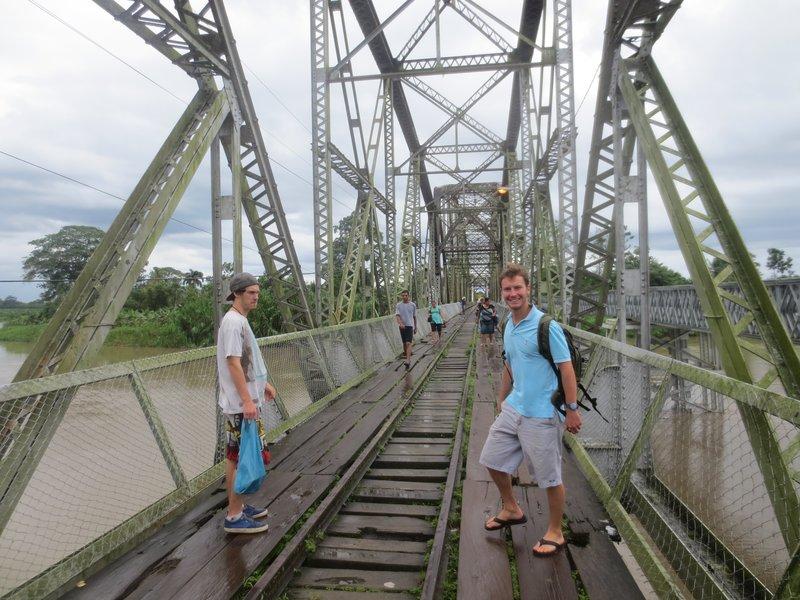 crossing the bridge from costa rica to panama