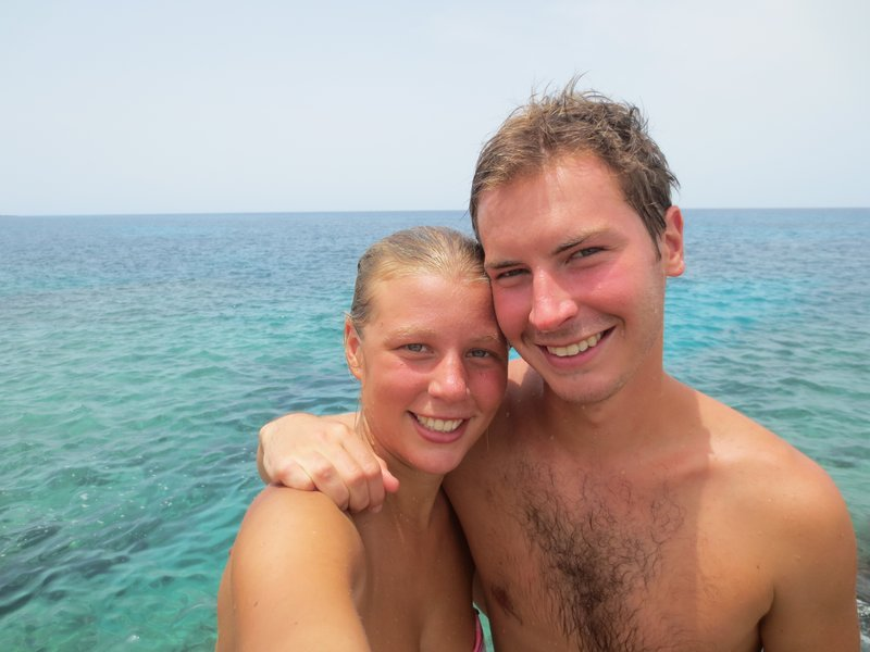 At our snorkel spot