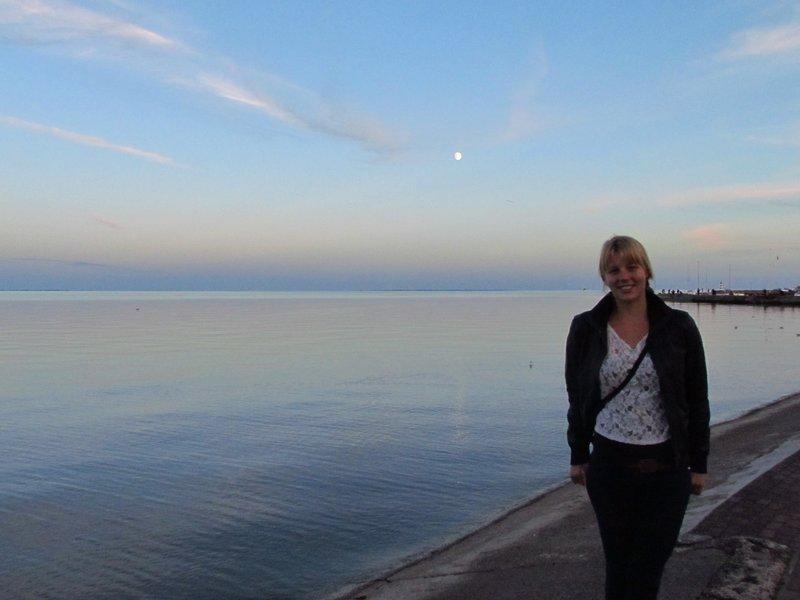 Overlooking the curionian lagoon at Nida