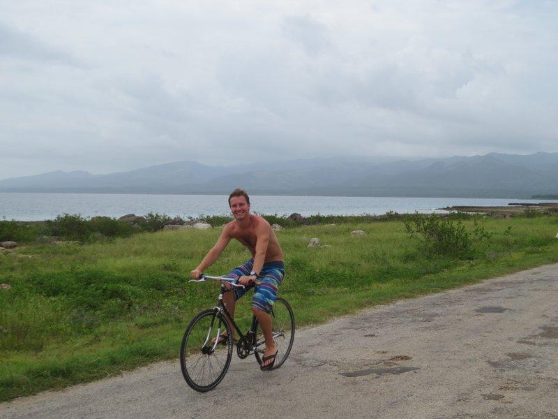 Bike riding to the beach