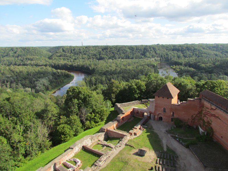 View over Sigulda from the castle tower