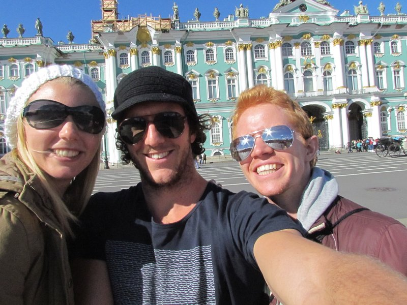 Rory, Nick and I outside the hermitage