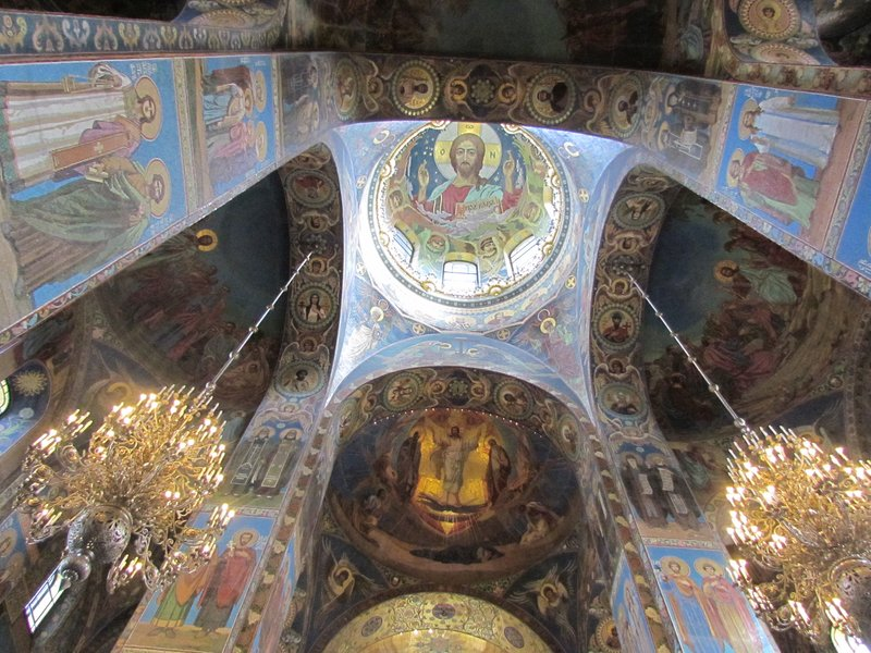 Inside the church of the spilled blood