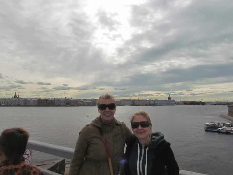 On top of peter and paul fortress with emma
