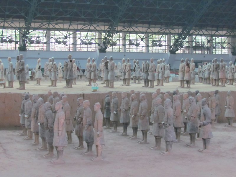 Terracotta warriors - back of pit 1