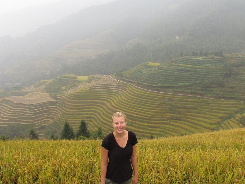 In the Ping'an rice terraces
