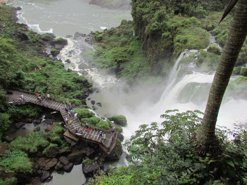 walkways and waterfalls