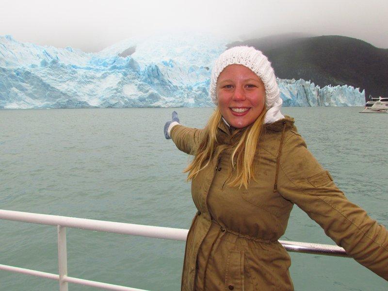 Anna with glacier