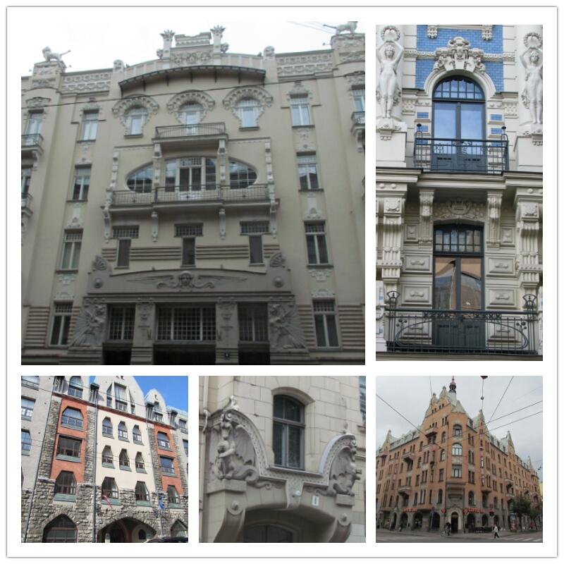 Art nouveau architecture Riga
