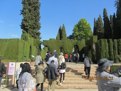 Our group entering Alhambra Palace
