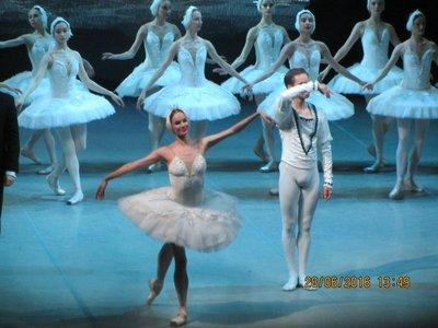 Ballerina bidding farewell at the end of the ballet