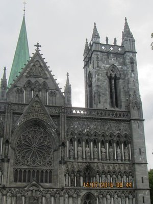 Part of the Trondheim Cathedral from a distance