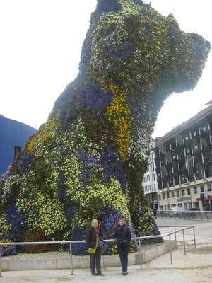 Figure of Dog with flowers near the Museum