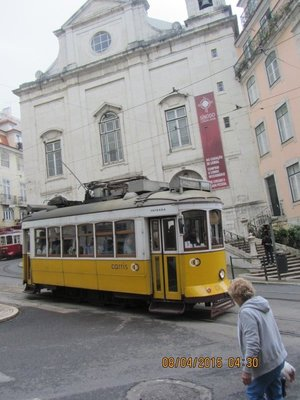 An old Tram car in Lisbon city