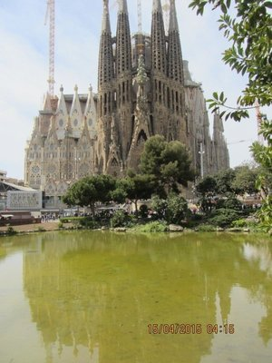 Sagrada Familia Basilica designed by Gaudi