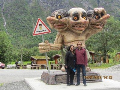 Andrew and Mala near Trollshop