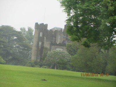 Malahide Castle from a distance
