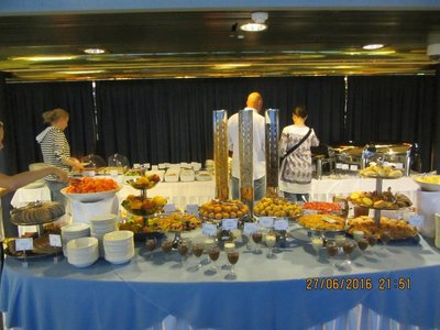 Breakfast bar in the Cruise liner restaurant