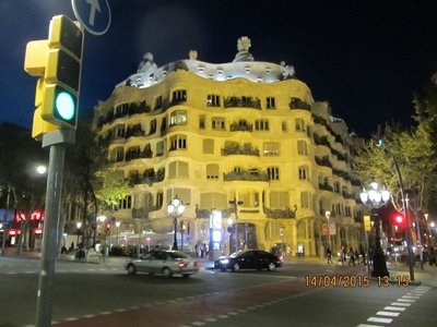 Building showing Gaudi's design