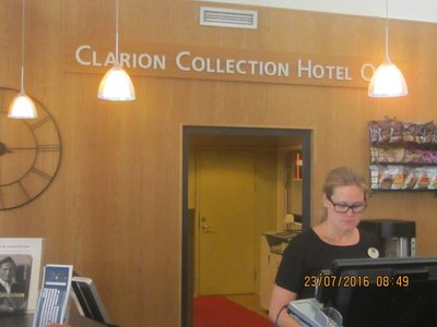 Clarion Collection Hotel Receptioin  in Gothenberg