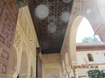 Decorated Palace walls and the ceilings