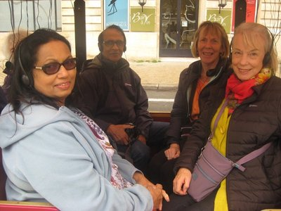 Four of us in Bordeaux open vehicle