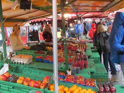 Fruit stalls at Bergen Fish Market