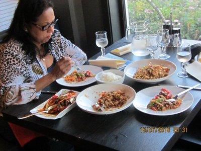 Having dinner at Chinese Restaurant Malin