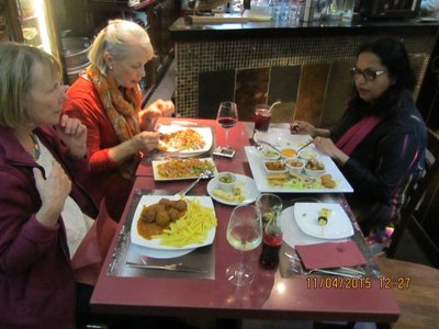 Having lunch in Cordoba in a restaurant