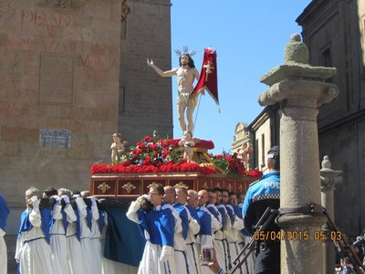 Statue of Jesus Christ carried in the procession