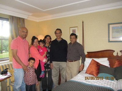 In our room with Jayalath and family