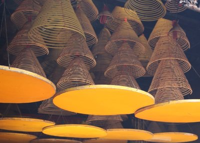 Incense Spirals for sale at the temple