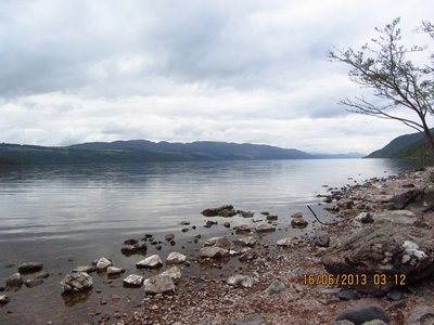 Looking for Loch Ness Monster in the Loch Ness Lake