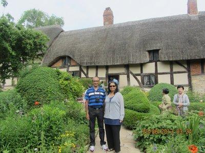 Mala and Andrew near Anna's garden
