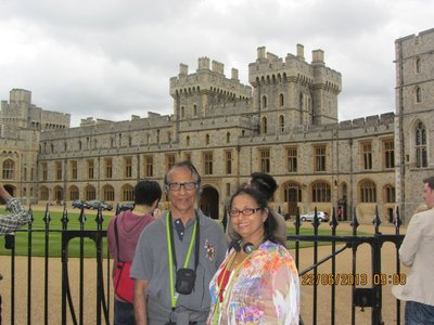 Mala and Andrew near Windsor Castle