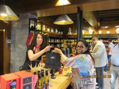 Mala buying Dijon mustard