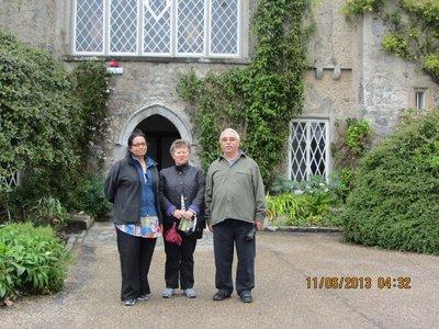 Mala, David and Marlene near Malahide Castle