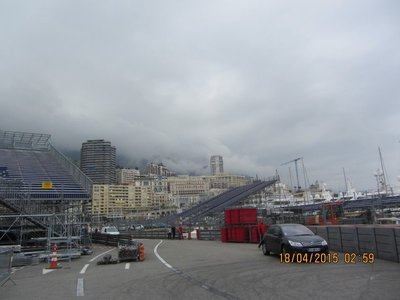 Monaco getting ready for car races