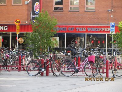 One of many Bicycle parks in Uppsala