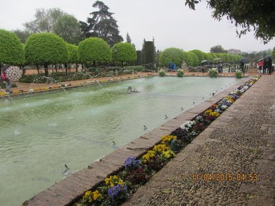 One of the water gardens in Cordoba Alkazar