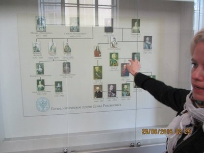Our Guide explaining the lineage of the Royal Family - Copy