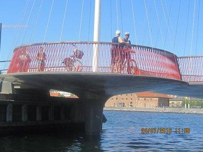 Circular portion of the Circle Bridge in Copenhagen