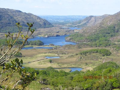Beutiful Lake in Ring of Kerry, seen from the road