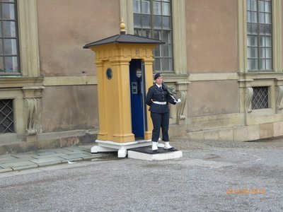 Royal guard at the palace