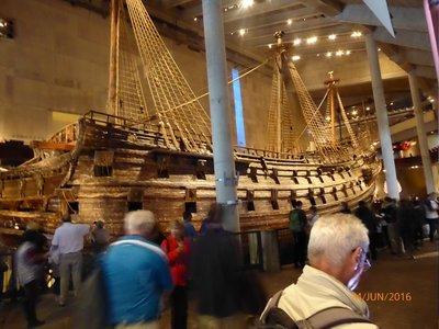 Salvaged Ship in Vasa Museum